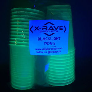 X-Rave Products Party Supplies - BLACKLIGHT PONG SET - CUPS AND BALLS - BEER PONG